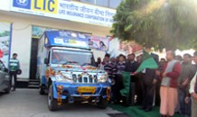 LIC contributes meal delivery vehicle
